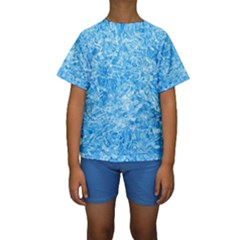 BLUE ICE CRYSTALS Kid s Short Sleeve Swimwear