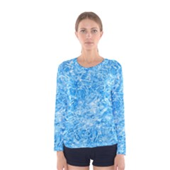 BLUE ICE CRYSTALS Women s Long Sleeve T-shirts