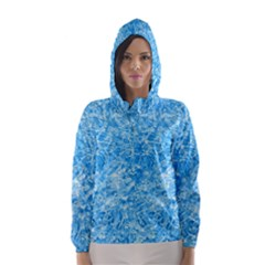 BLUE ICE CRYSTALS Hooded Wind Breaker (Women)