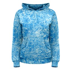 BLUE ICE CRYSTALS Women s Pullover Hoodies