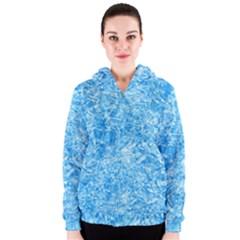 BLUE ICE CRYSTALS Women s Zipper Hoodies