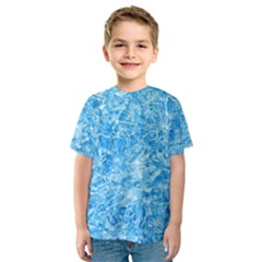 BLUE ICE CRYSTALS Kid s Sport Mesh Tees