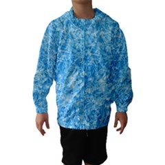 Blue Ice Crystals Hooded Wind Breaker (kids)