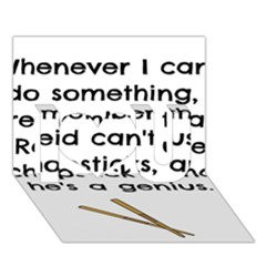 Reid s Chapsticks I Love You 3D Greeting Card (7x5)