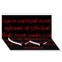 I ve Watched Enough Criminal Minds Twin Heart Bottom 3d Greeting Card (8x4)