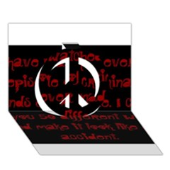 I ve Watched Enough Criminal Minds Peace Sign 3D Greeting Card (7x5)