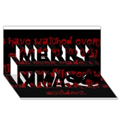 I ve Watched Enough Criminal Minds Merry Xmas 3D Greeting Card (8x4)