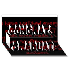 I ve Watched Enough Criminal Minds Congrats Graduate 3D Greeting Card (8x4)