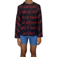 I ve Watched Enough Criminal Minds Kid s Long Sleeve Swimwear