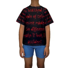 I ve Watched Enough Criminal Minds Kid s Short Sleeve Swimwear