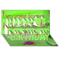 Garcia s Greetings Happy Birthday 3D Greeting Card (8x4)
