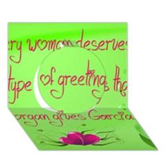 Garcia s Greetings Circle 3d Greeting Card (7x5)