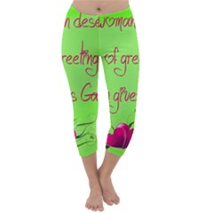 Garcia s Greetings Capri Winter Leggings