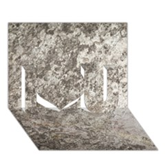 Weathered Grey Stone I Love You 3d Greeting Card (7x5)