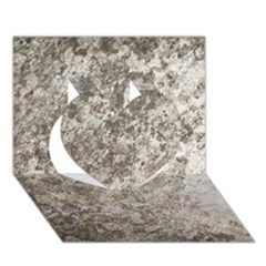 Weathered Grey Stone Heart 3d Greeting Card (7x5)