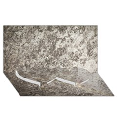 Weathered Grey Stone Twin Heart Bottom 3d Greeting Card (8x4)