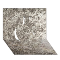 WEATHERED GREY STONE Apple 3D Greeting Card (7x5)