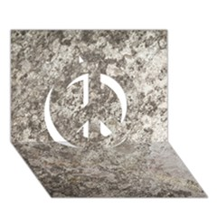 Weathered Grey Stone Peace Sign 3d Greeting Card (7x5)