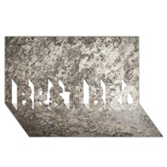WEATHERED GREY STONE BEST BRO 3D Greeting Card (8x4)