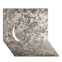 WEATHERED GREY STONE Circle 3D Greeting Card (7x5)