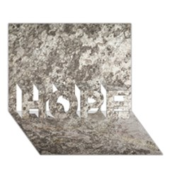 WEATHERED GREY STONE HOPE 3D Greeting Card (7x5)
