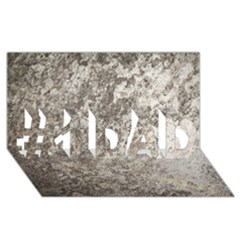 WEATHERED GREY STONE #1 DAD 3D Greeting Card (8x4)
