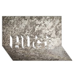 WEATHERED GREY STONE HUGS 3D Greeting Card (8x4)