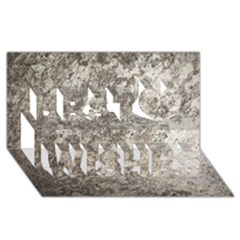 WEATHERED GREY STONE Best Wish 3D Greeting Card (8x4)