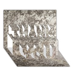 Weathered Grey Stone Thank You 3d Greeting Card (7x5)