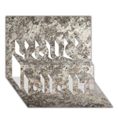 WEATHERED GREY STONE You Did It 3D Greeting Card (7x5)
