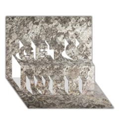 WEATHERED GREY STONE Get Well 3D Greeting Card (7x5)