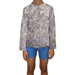 WEATHERED GREY STONE Kid s Long Sleeve Swimwear