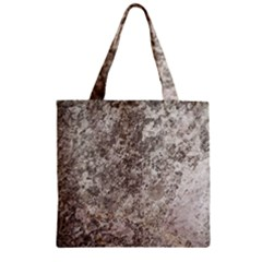 Weathered Grey Stone Zipper Grocery Tote Bags