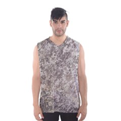 Weathered Grey Stone Men s Basketball Tank Top