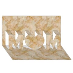 Tan Marble Mom 3d Greeting Card (8x4)