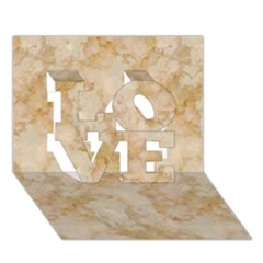 Tan Marble Love 3d Greeting Card (7x5)