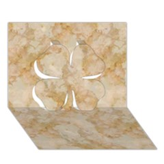 TAN MARBLE Clover 3D Greeting Card (7x5)