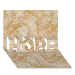 TAN MARBLE HOPE 3D Greeting Card (7x5)