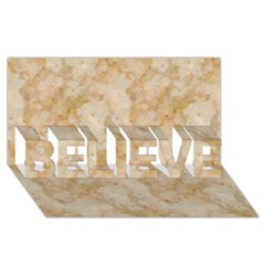 Tan Marble Believe 3d Greeting Card (8x4)