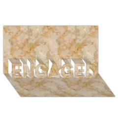TAN MARBLE ENGAGED 3D Greeting Card (8x4)