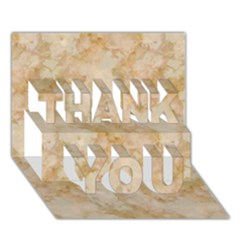 Tan Marble Thank You 3d Greeting Card (7x5)