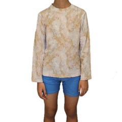 TAN MARBLE Kid s Long Sleeve Swimwear
