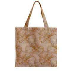 TAN MARBLE Grocery Tote Bags