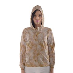 TAN MARBLE Hooded Wind Breaker (Women)