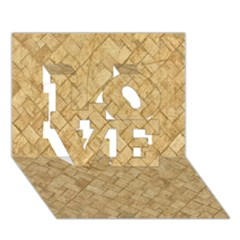 TAN DIAMOND BRICK LOVE 3D Greeting Card (7x5)
