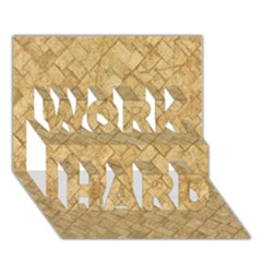 Tan Diamond Brick Work Hard 3d Greeting Card (7x5)
