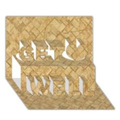 TAN DIAMOND BRICK Get Well 3D Greeting Card (7x5)