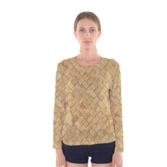 TAN DIAMOND BRICK Women s Long Sleeve T-shirts