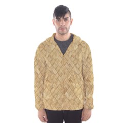 TAN DIAMOND BRICK Hooded Wind Breaker (Men)