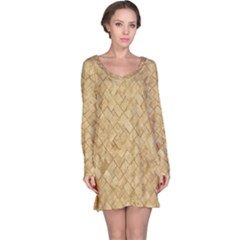 TAN DIAMOND BRICK Long Sleeve Nightdresses